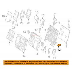 Palanca del reclinador trasero izquierdo