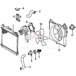 Base del electroventilador