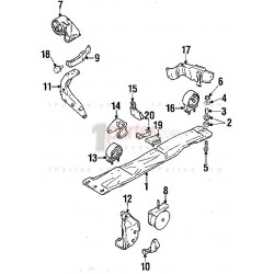 Base del motor - delantera