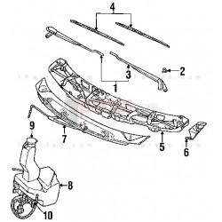 Brazo de limpiaparabrisas derecho (copiloto)